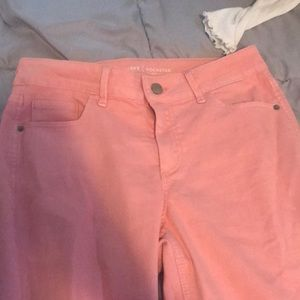 Old navy pink ripped jeans